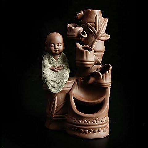 Keramik Rückfluss Räuchergefäß Räucherstäbchen mit Stifthalter DESKTOP Decor a
