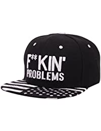 Sombrero,Xinantime Ajustable Gorras de Béisbol Sombreros Algodón Hip Hop (Negro)
