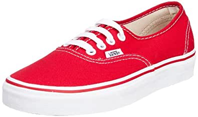 Vans U Authentic - Baskets Mode Mixte Adulte - Rouge (Red) - 34.5 EU