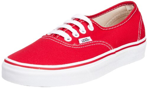Vans U Authentic - Baskets Mode Mixte Adulte - Rouge (Red) - 35 EU - ( 4M US)