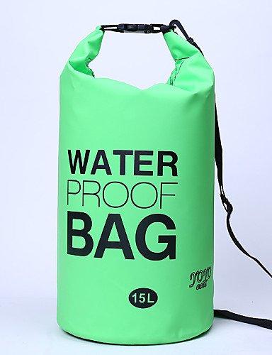 HWB/ 15 L Wasserdichte Dry Bag Camping & Wandern / Radsport Outdoor Wasserdicht / Kompakt Gelb / Grün / Rot / Grau / Schwarz / Blau PVC other Orange