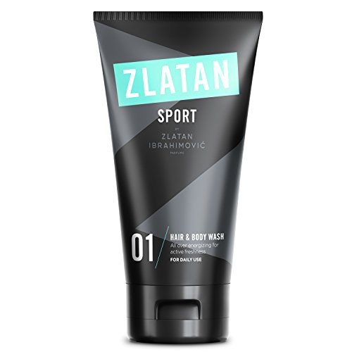 Zlatan SPORT Duschgel für Männer - Vegan Pflegender Erfrischender Duft - Herren Premium Herren Body Wash von Zlatan Ibrahimović Parfums - 150ml -