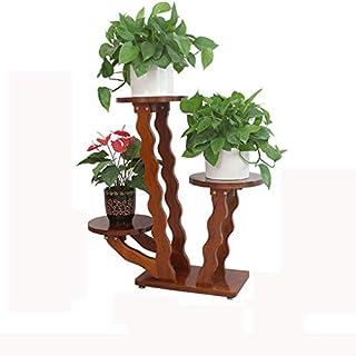 Seven stars Hängendes grünes grünes hölzernes mehrschichtiges festes Holz-Blumen-Stand-chinesische Art-Wohnzimmer-Boden-einfacher moderner europäischer Art Boden-Balkon-Blumen-Stand (größe : B)