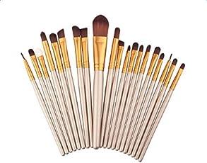 Threecat Eye Makeup Brushes Set 20Pcs Professional Multifunction Comestic Eyeshadow Eyeliner Brushes Kit