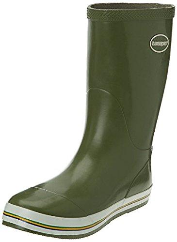 Havaianas Aqua Rain Boots, Bottes de pluie Femme Dark Khaki