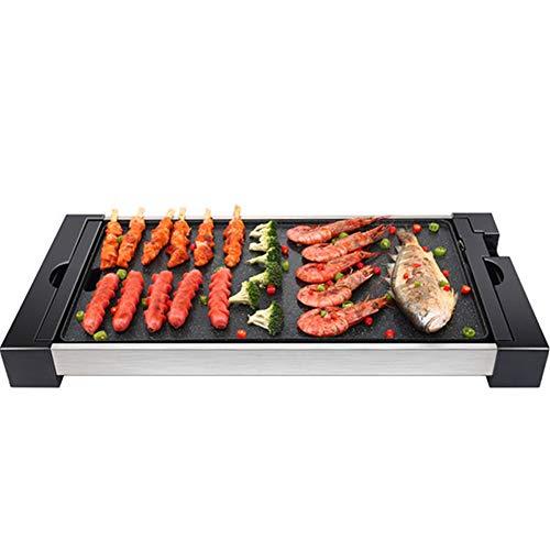 WSYK Elektro Grill Tragbarer mit Variable Temperatureinstellung, Fettauffangschale und Antihaft-Pfanne, 1800W
