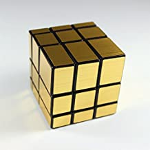 HappyToy ShengShou espejo velocidad cubo 3x3 espejo Mirror Block Puzzle Cubo torcido Magic Cube juguete (Golden)