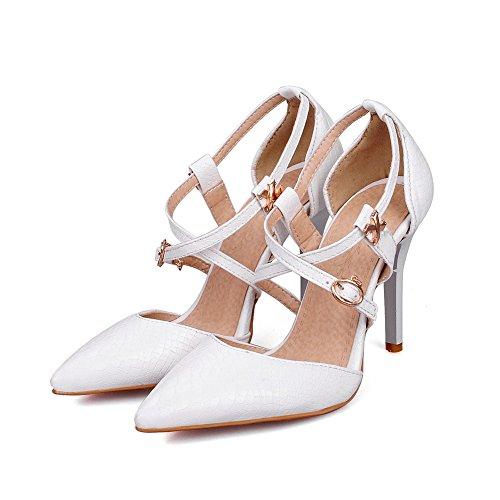 Adee Damen schlupfslip Polyurethan Pumpen Schuhe Weiß
