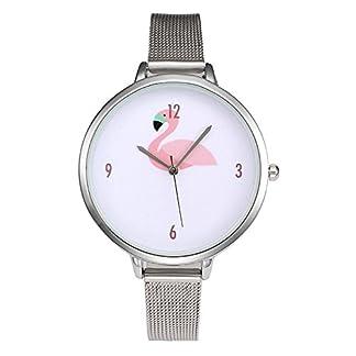 MJARTORIA-Damen-Armbanduhr-Flamingo-Mode-Analog-Quarz-Damenuhr-Edelstahl-Milanese-Armband-Silber-Farbe-24cm