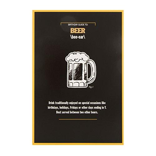 "Hallmark 25488545Funny Geburtstag Karte""Bier""–Medium"