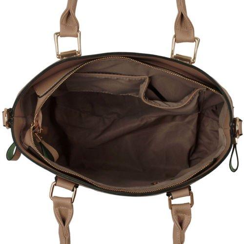 Trendstar Damen Shopper Taschen Frauen Große Handtaschen Faux Ledertote-Schulter-Entwerfer Quaste Mode Taschen Nude