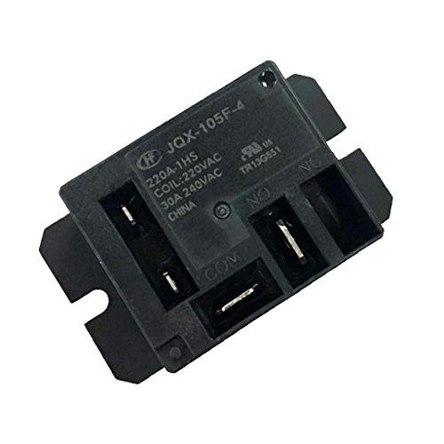 MagiDeal JQX-105F-4 220A-1HS DC Mini Power Relay 4 Polig Leistungsrelais 30A - Schwarz