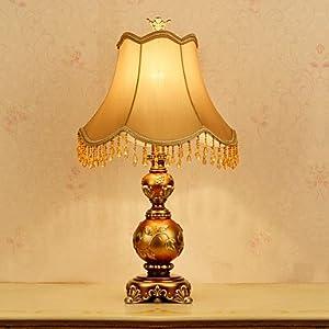 Elegante lampada da tavolo in stile europeo vintage creativo Calabash a forma di corpo in resina by LILAS