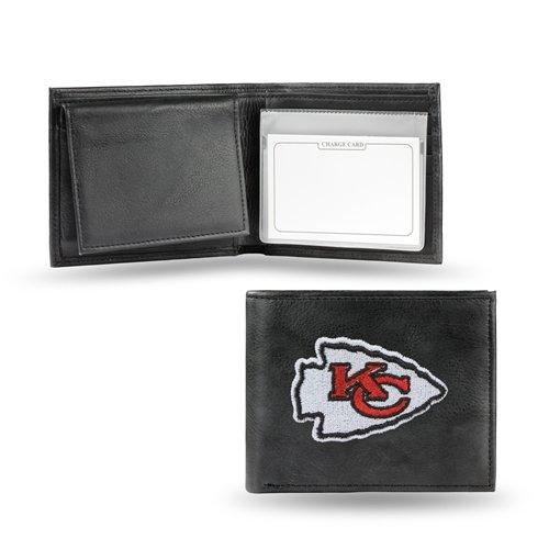 Rico Kansas City Chiefs Gesticktes Leder-Brieftasche - Leder Gestickte Brieftasche