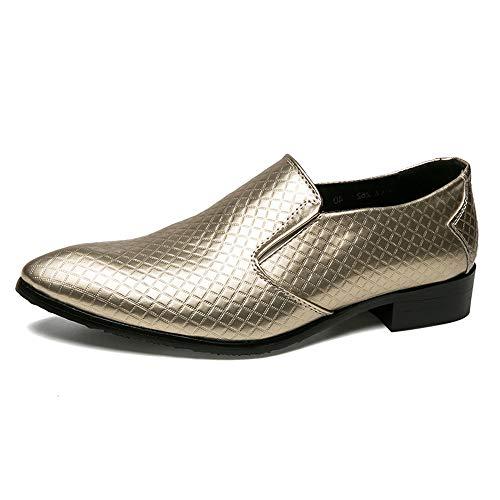 Herren Business Oxford Casual Einfache Klassische Britische Mode Atmen Sie Formelle Schuhe,Grille Schuhe (Color : Gold, Größe : 44 EU)
