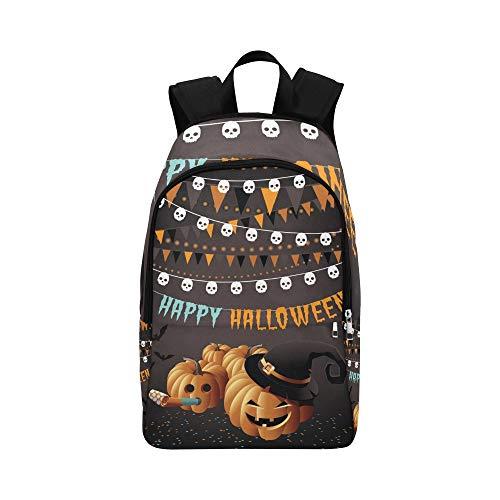 Happy Halloween Party Kürbisse Bunting Konfetti Lässige Daypack Reisetasche College School Rucksack Für Herren und ()