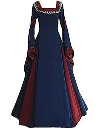 tianxin Vestido de traje medieval Vestido renacentista para mujer Vestido largo de noche de estilo victoriano