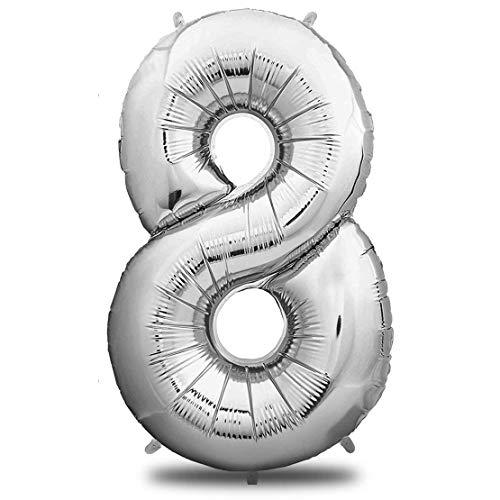 stag XXL Silber - Riesen Folienballon in 40
