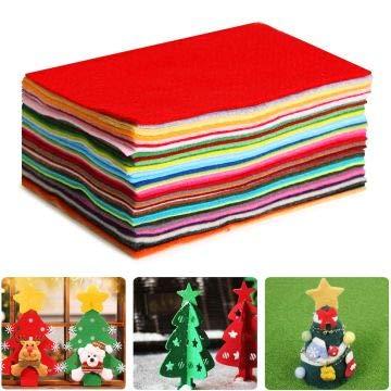Aokebeey Filzstoff 40 Verschiedene farbige Polyester-Filzfolien waschbar Filz Blätter für DIY Handwerk Nähen Projekte (20 x 30 cm)