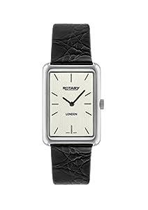 Rotary GS90989/32 - Reloj de Pulsera Hombre, Piel, Color Negro de Rotary Watches