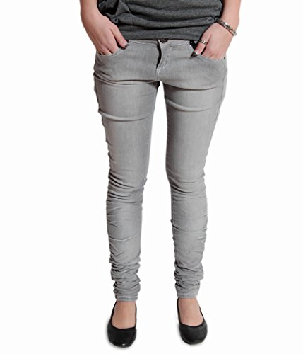 VSCT Damen Jeans Hose Ashley Skinny Stretch Denim Jeggings Treggings Röhrenjeans Stretchjeans Röhre Slim Fit Low Waist grau cool (W30/L34) (Stretch Denim Ashley)
