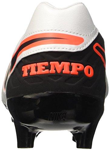 Nike Tiempo Mystic V Fg, équipement de football homme Blanc/noir/orange (pourpre clair/argenté métallique - pourpre total)