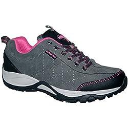 Mujer Northwest Territory Gris Cuero Zapatos Impermeables Para Caminar EU 40