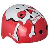 Ideale Monz Fahrradhelm, BMX- und Skaterhelm Gr. 54-58 cm, Farbe:Totenkopf/rot, Größe:56-58