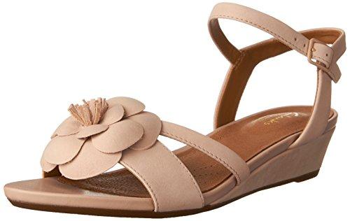 Clarks Women's Parram Stella Dress Wedge Sandal Dusty Pink 8 M US (Stella Wedge Sandal)