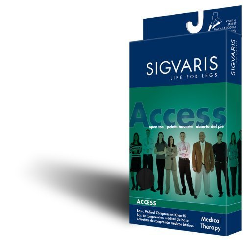 Sigvaris 972CLS066 accesso, 20-30 mmHg-Calzini con dita, modello alto fino al ginocchio, misura: grande, (LS) by