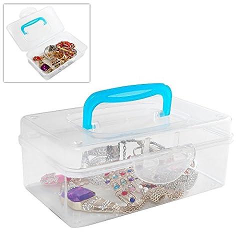 Multi Purpose Mini Clear Plastic Travel Storage Box / Portable
