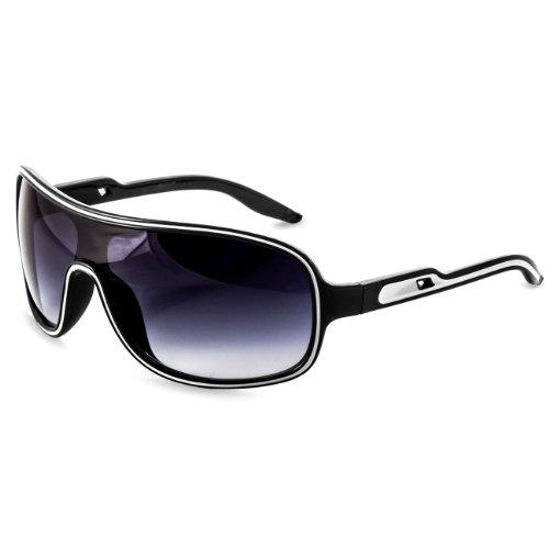 Caspar SG022 Unisex Design Pilotenbrille/Sonnenbrille, Farbe:schwarz/schwarz getönt