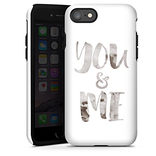 Apple iPhone X Silikon Hülle Case Schutzhülle You and Me Sprüche Freundschaft Liebe Tough Case glänzend