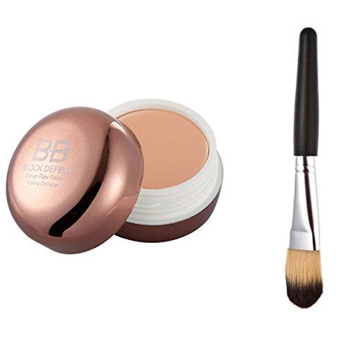Bb Creme Concealer Make-up Basis Fundament Gesichtspuder + Silber Griff Bürste