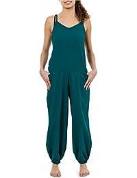 - Combi pantalon debardeur femme coton doux bleu vert Niloh -