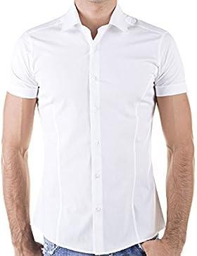 Redbridge By Cipo & Baxx Slim Fit Kurzarm Hemd Business Hochzeit Freizeit