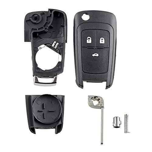 mimagogy Flip 2-Knopf-Schlüssel Fob Case + Blatt für Vauxhall Opel Astra Insignia + Logo A54 -