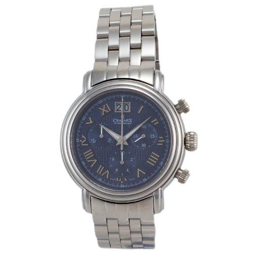 CHARMEX 1762 - Reloj de pulsera hombre, acero inoxidable, color Plata