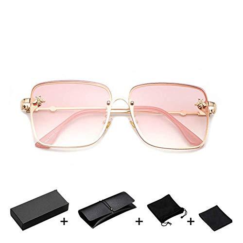 TDPYT Big Frame Women Sunglasses Klare Linse Übergroße Weibliche Sonnenbrillen