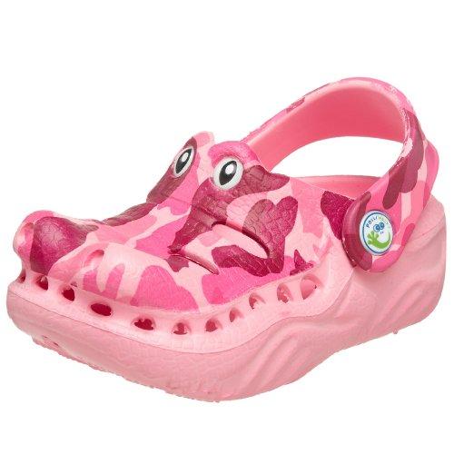 Polliwalks - Sandali, pattine e zoccoli Unisex per bambini , multicolore (Pink Camo), 25 EU Bambino