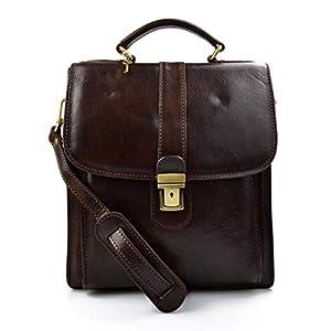 Gürteltasche hüfttasche umhängetasche schultertasche tragetasche ledertasche seitentasche beutel bauchtasche herren dunkelbraun