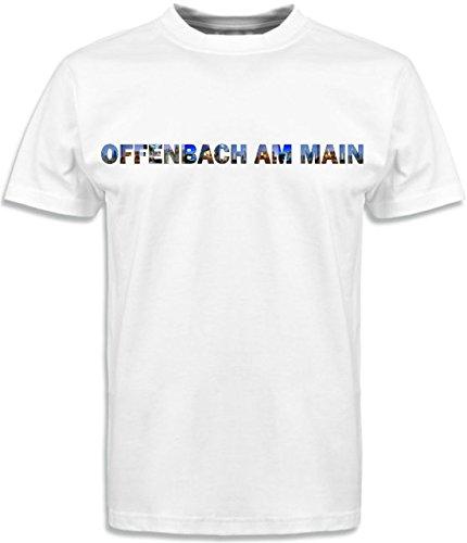 T-Shirt mit Städtenamen Offenbach Weiß