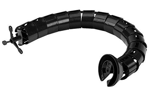 Gummiprodukt MB588 - Schreibtisch Kabelführung in Schwarz 78 cm