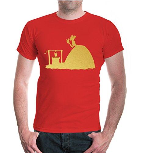 buXsbaum® T-Shirt Froschprinzessin Red-Gold