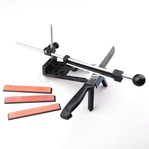 KKmoon Professionelle Küchenmesserschleifer -System Fix-Winkel 4 Steine für verschiedene Größen von Messer
