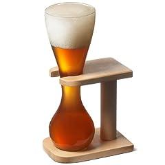 Idea Regalo - Bicchiere da birra da un quarto -Yard of Ale- con supporto