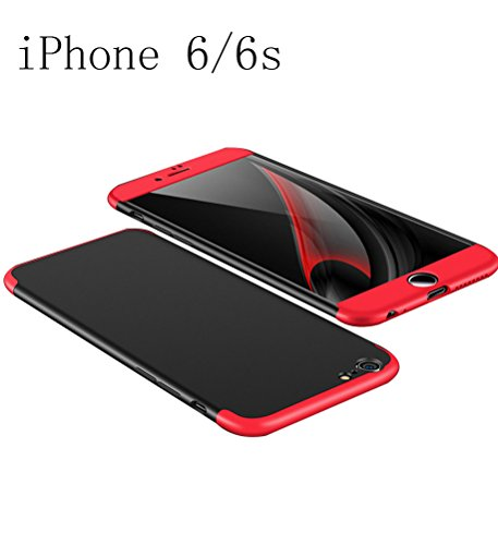 iPhone 6 4.7'' Case iPhone 6S 360 Degree Protection 3 in 1 Slim Cover Adamark Shockproof Shell Full Body Coverage Protection Protective Case For iPhone 6/6S (without Tempered Glass Film Protector)