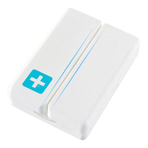 Boîte de pastilles de voyage Boîte de pastilles Organiseur de pastilles pilulier hebdomadaire - magnétique fermé Boîte de sept compartimientos Voyage Travail Maison souhaitable bleu