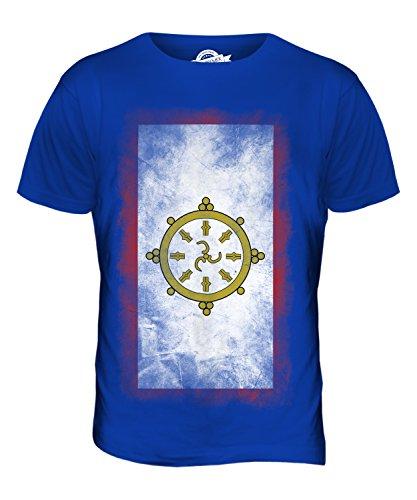CandyMix Sikkim Verblichen Flagge Herren T Shirt Königsblau