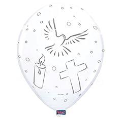 Idea Regalo - Palloncini prima comunione bianchi - 8 pezzi